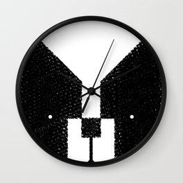 Boston Terrier to the Face! Wall Clock