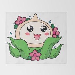 Happy Little Tentacles! Throw Blanket
