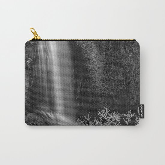 """Magic Waterfall"" BW Carry-All Pouch"