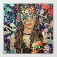 hamburger Canvas Prints featuring Hamburger by Katy Hirschfeld