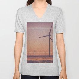 Southwest Windmills Route 66 Unisex V-Neck