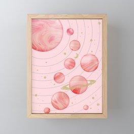 The Pink Solar System Framed Mini Art Print