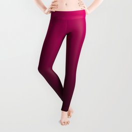 Black and Fuchsia Gradient Leggings