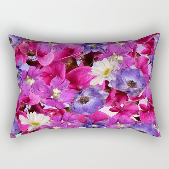 The Joy Of Spring Flowers Rectangular Pillow