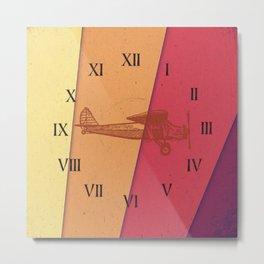 horloge avion Metal Print