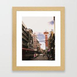 bkk chinatown Framed Art Print