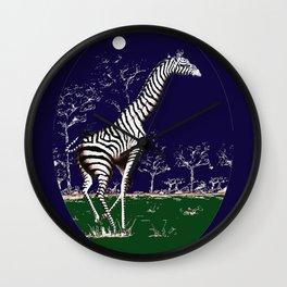 Girafe à la nuit Wall Clock