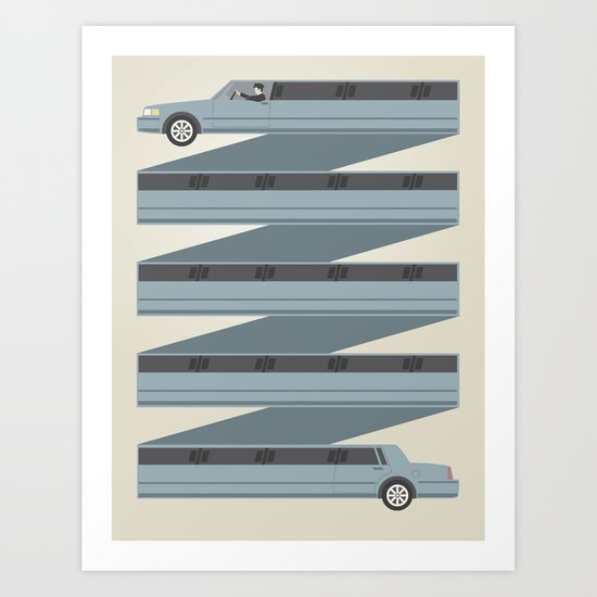 Stretched Out  Art Print