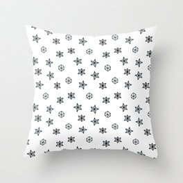 black and white Scandinavian Christmas Prints patterns Throw Pillow