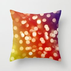 Lights & Gradients VII Throw Pillow