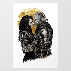 Geralt and Yennefer Art Print