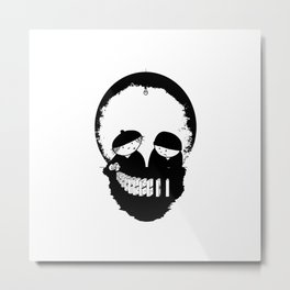 dominoes skull Metal Print