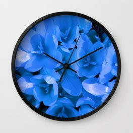 Blue Summer Wall Clock