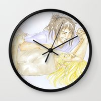 fili Wall Clocks featuring Fili and Kili by JoySlash