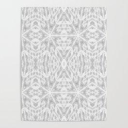 Pattern Grey / Gray Poster