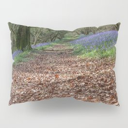 Bluebells and Beech Leaves Pillow Sham