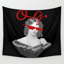 Mary Shelley, the Original Goth Wall Tapestry