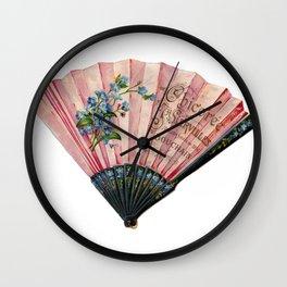 Fan Fancy (pink) Wall Clock