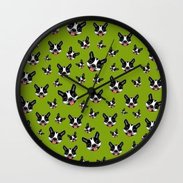 Milo The Boston Terrier #2 Wall Clock