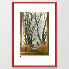 "Marcia Milner-Brage, ""Window Silver Maples Winter"" Framed Art Print"