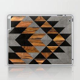 Urban Tribal Pattern 10 - Aztec - Concrete and Wood Laptop & iPad Skin