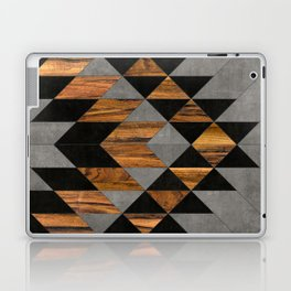 Urban Tribal Pattern No.10 - Aztec - Concrete and Wood Laptop & iPad Skin