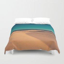 Sunset over the sand dunes Duvet Cover