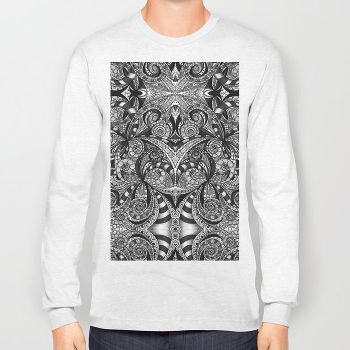 Drawing Floral Zentangle G6B Long Sleeve T-shirt