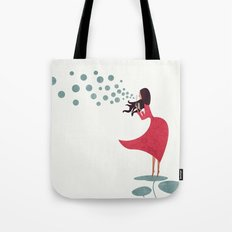 I'm bubbling. That state of absolute happiness when you are ready to fly. Tote Bag