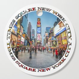 Times Square Sparkle (badge on white) Cutting Board
