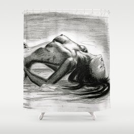 Passion in Black and White Shower Curtain
