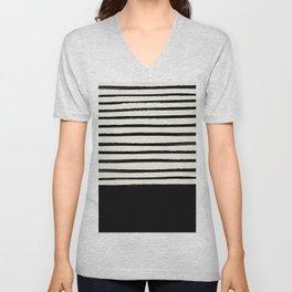 Black x Stripes Unisex V-Neck