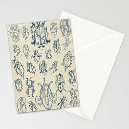 Ornate lettering pattern Stationery Cards