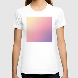 Pastel Yellow, Pink, Purple Gradient Ombre Abstract T-shirt