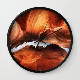 Image USA Antelope Canyon Arizona Cliff Nature canyons Rock Crag Wall Clock