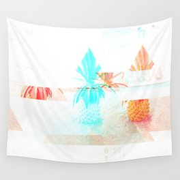 GLITCH NATURE #71: Happy Pineapple Wall Tapestry