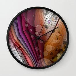 FALL INTO WINTER ABSTRACT ART Wall Clock