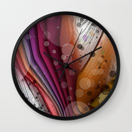 FALL INTO WINTER ABSTRACT ART Wall Clock