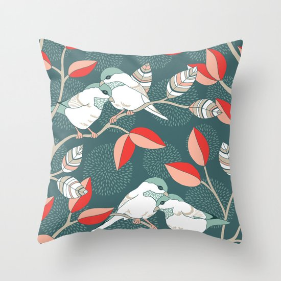 Love Birds Throw Pillow by Patty Sloniger Society6
