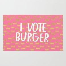 I Vote Burger Rug