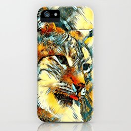 AnimalArt_Lynx_20170601_by_JAMColors iPhone Case