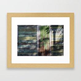 Old door Key West Framed Art Print