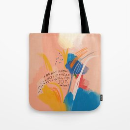 Find Joy. The Abstract Colorful Florals Tote Bag