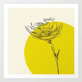 line drawing - flower Art Print