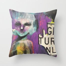 Right turn only Throw Pillow