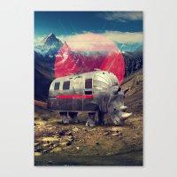 rhino Canvas Prints featuring Rhino by Ali GULEC