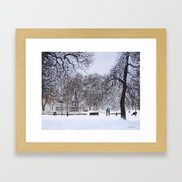 Southampton Watts Park in the Snow Framed Art Print
