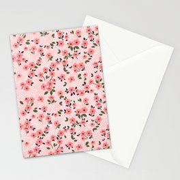 29 Cute floral pattern. Pink flowers. Stationery Cards