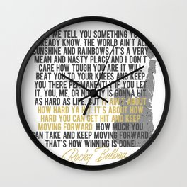 Boxing Motivation, Coach, Boxing Club, Gym Decoration, Rocky Balboa Wall Clock
