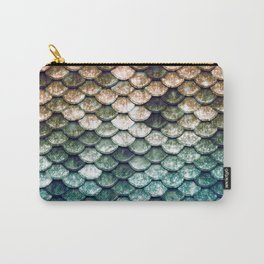 Mermaid Tail Teal Ocean Carry-All Pouch
